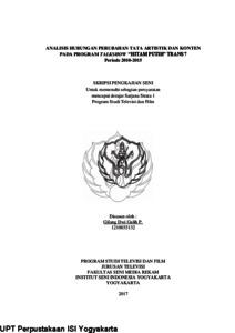 Analisis Hubungan Perubahan Tata Artistik Dan Konten Pada Program